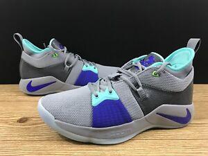 88fc1149eea1 Nike PG2 Pure Platinum Grey Aurora Green Men Sz 9.5 Paul George ...
