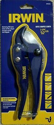 "IRWIN Ratcheting PVC Cutter 1-1//4/"" 31.75mm OD IRHT81740"