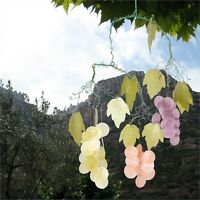 Sea Shells Wind Chimes GRAPES CAPIZ CHIME Green Leaves Garden Decor Decoration