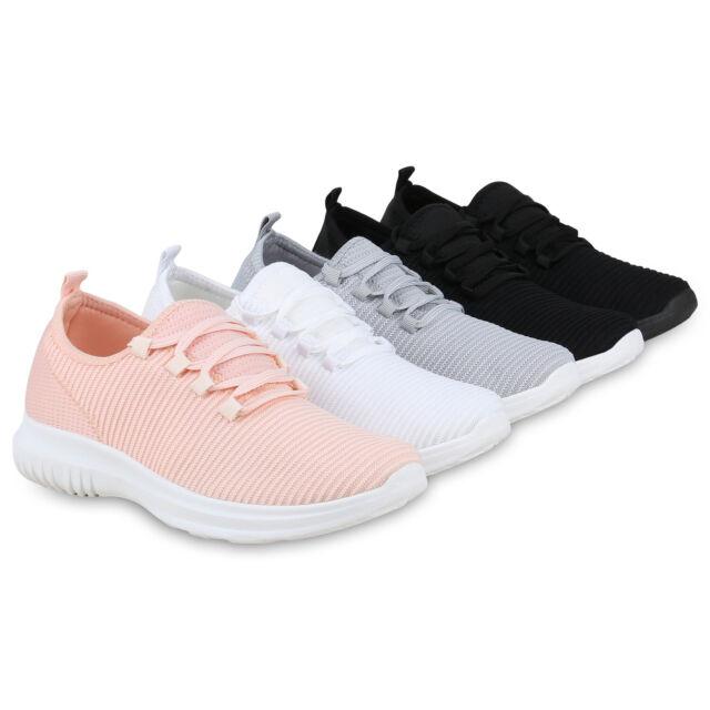 Damen Sportschuhe Strick Schnürer Laufschuhe Fitness Sneaker 826252 Trendy Neu