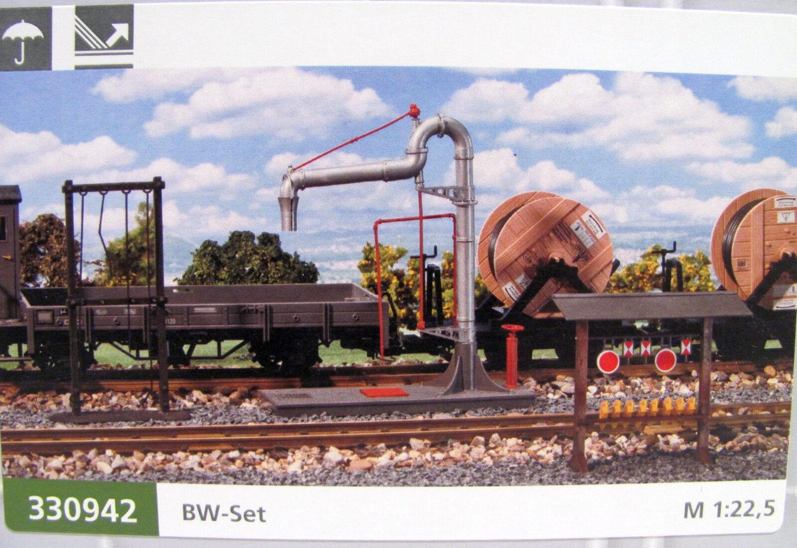 Pola 330942  Zubehörset BW mit Wasserkran, Schürhakengestell etc. für Spur G    Modern Und Elegant