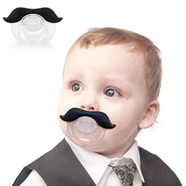 Funny Novelty The Gentleman Mustache Pacifier For Infants Newborns Boys & Girls