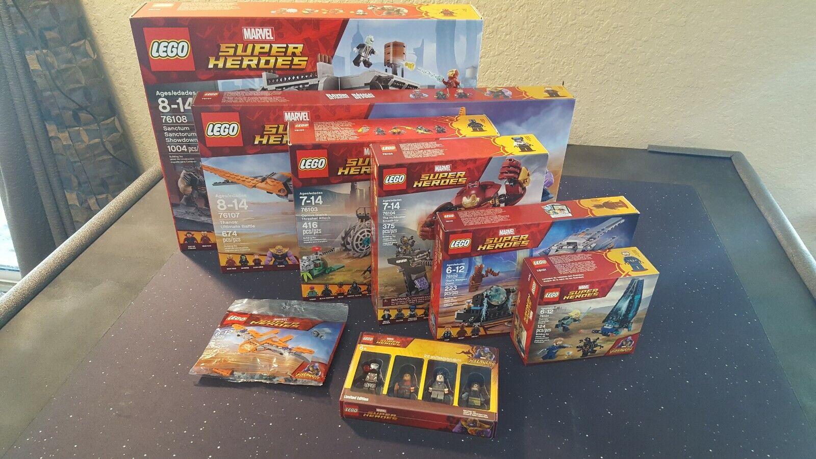 LEGO 5005256 76108 76107 76104 76103 76102 76101 30525 Avengers Infinity War