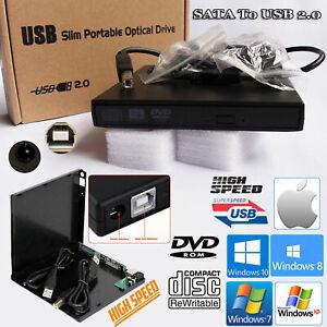 Portatil-USB-a-SATA-Combo-de-CD-DVD-RW-ROM-Drive-Externo-Caso-cubierta-recinto-Caddy