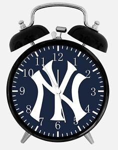 "New York Yankees Alarm Desk Clock 3.75"" Home or Office Decor Z163 Nice For Gift"