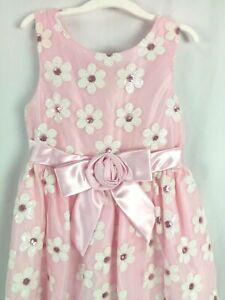f6d60869746 Image is loading Jayne-Copeland-Easter-Sequin-amp-Mesh-Flower-Dress-