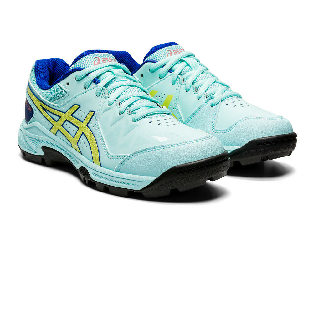 Asics Womens Gel-Peake Hockey Shoes Pitch Field Blue Sports Breathable