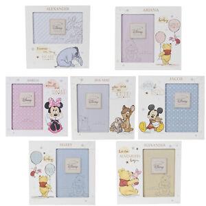Details Zu Personalisiert Gravur Disney Baby Bilderrahmen Pooh Micky Minney Baby Geschenk