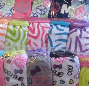 Girls New 5 Pairs Panties Cute Fun Kids Underwear Assorted Graphics & Patterns