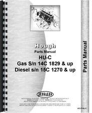 Hough Hu C Pay Loader Parts Manual Catalog