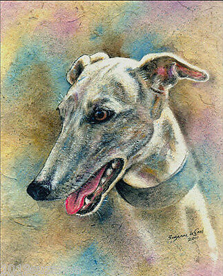 LIMITED EDITION GREYHOUND DOG PRINT FROM ORIGINAL PAINTING BY SUZANNE LE GOOD