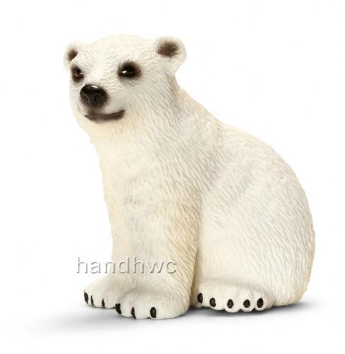 NIP Schleich 14660 Polar Bear Cub Wild Animal Model Toy Figurine