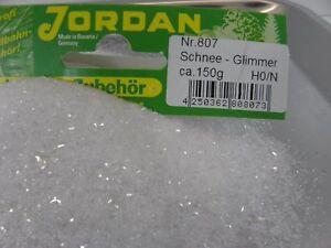 Schnee-Glimmer-150g-Jordan-807-Modellbau-Winterlandschaft-Winterdorf-45099