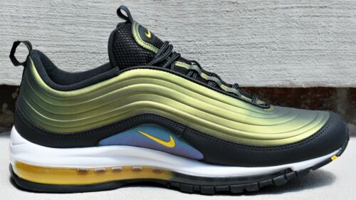 New Men/'s Lifestyle Airmax Sneakers Anthracite Amarillo NIKE AIR MAX 97 LX