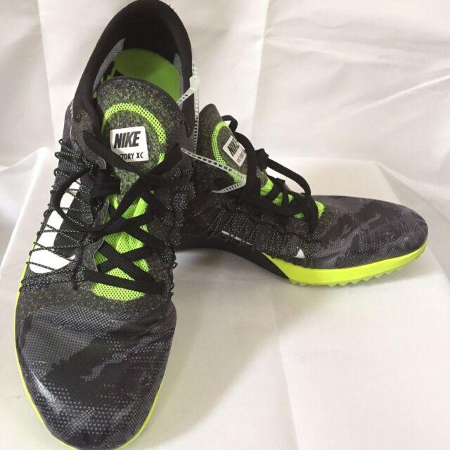 3c2ebee2298b6f Nike Zoom Victory XC 3 Black Volt White Running Spikes Cleats Mens ...