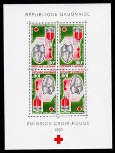 GABON SCOTT# C54a-C55a MNH RED CROSS ISSUE (INCLUDES FOLDER)