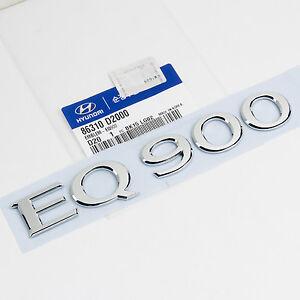 """G90 86310 D2000 Genuine /""""EQ900/"""" Trunk Emblem For 2017 Hyundai Genesis EQ900"""
