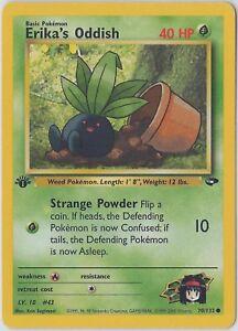 ERIKA/'S ODDISH 70//132 ⎜1st Edition⎜ Gym Challenge Common Mint Vintage Pokemon