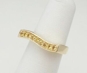 Image Is Loading ZALES FINE CITRINE RING 14K YELLOW GOLD