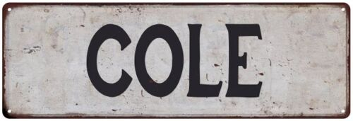COLE Vintage Look Personalized Rustic Chic Metal Sign 106180036032