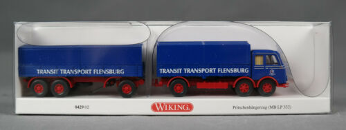 Wiking 042902//0429 02 pritschenhängerzug MB LP 333 transporte de tránsito h0, 1:87