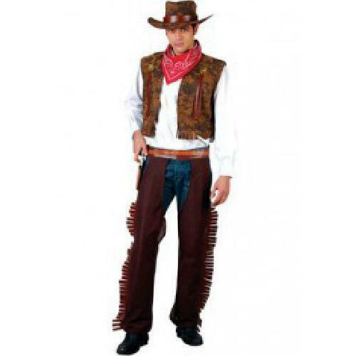 WESTERN COWBOY ADULT COSTUME FANCY DRESS UP PARTY