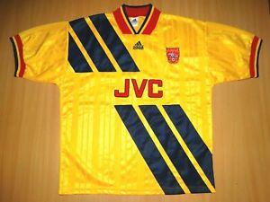 MATCH WORN Arsenal #2 LEE DIXON shirt jersey camiseta XL ADIDAS 1993 1994 AWAY