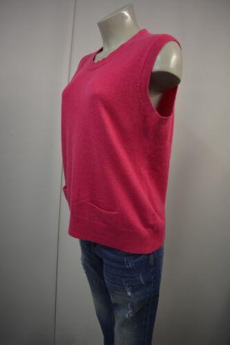 Pullover Sleeveless Cashmere Christian Fuchsia maglia da donna a Cashmere 31 Hirth lavorato 44 5qWvPqZw1