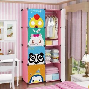 Charmant Details About Portable Closet Organizer For Kids Childrens Dresser Toddler  Wardrobe Hanging