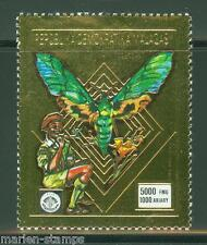 MALAGASY BOY SCOUT & BUTTERFLIES  GOLD FOIL STAMP  MINT NH
