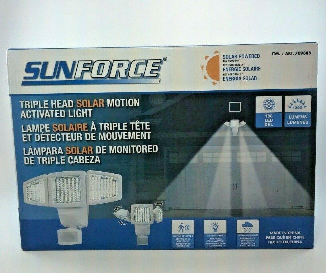 Bizlander 60 DEL Heavy Duty Solar Flood Light Projecteur de sécurité avec kit d/'installation