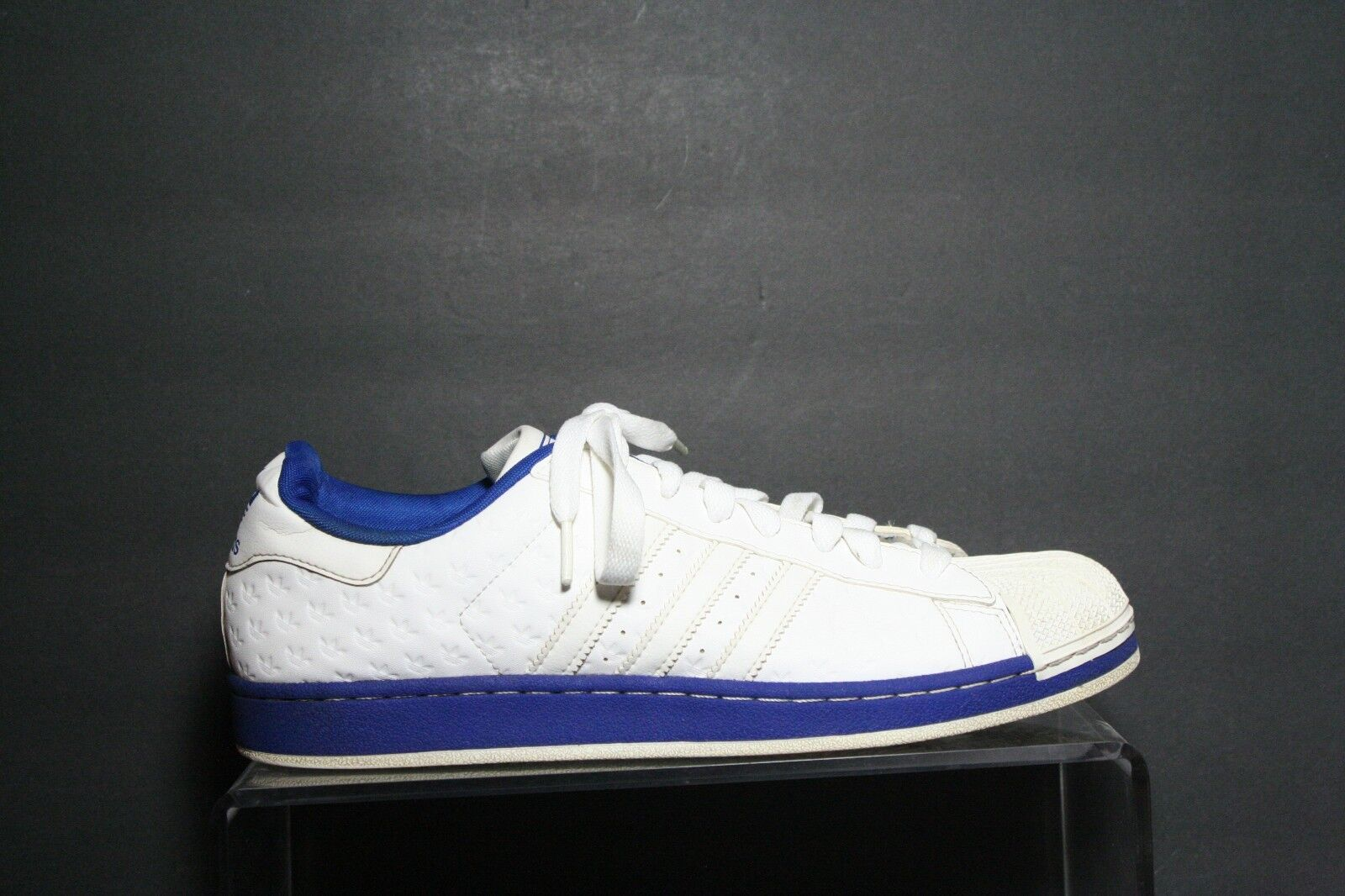 Adidas superstar 2 ripropone bianco og 2008 multi - bianco ripropone blu uomini 12 grande logo trifoglio athletic 54043b