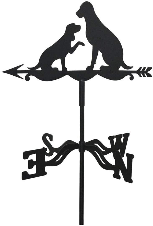 Weather Vane Dog & Puppy Wind Direction Compass Weathervane Wall Or Ground Fix