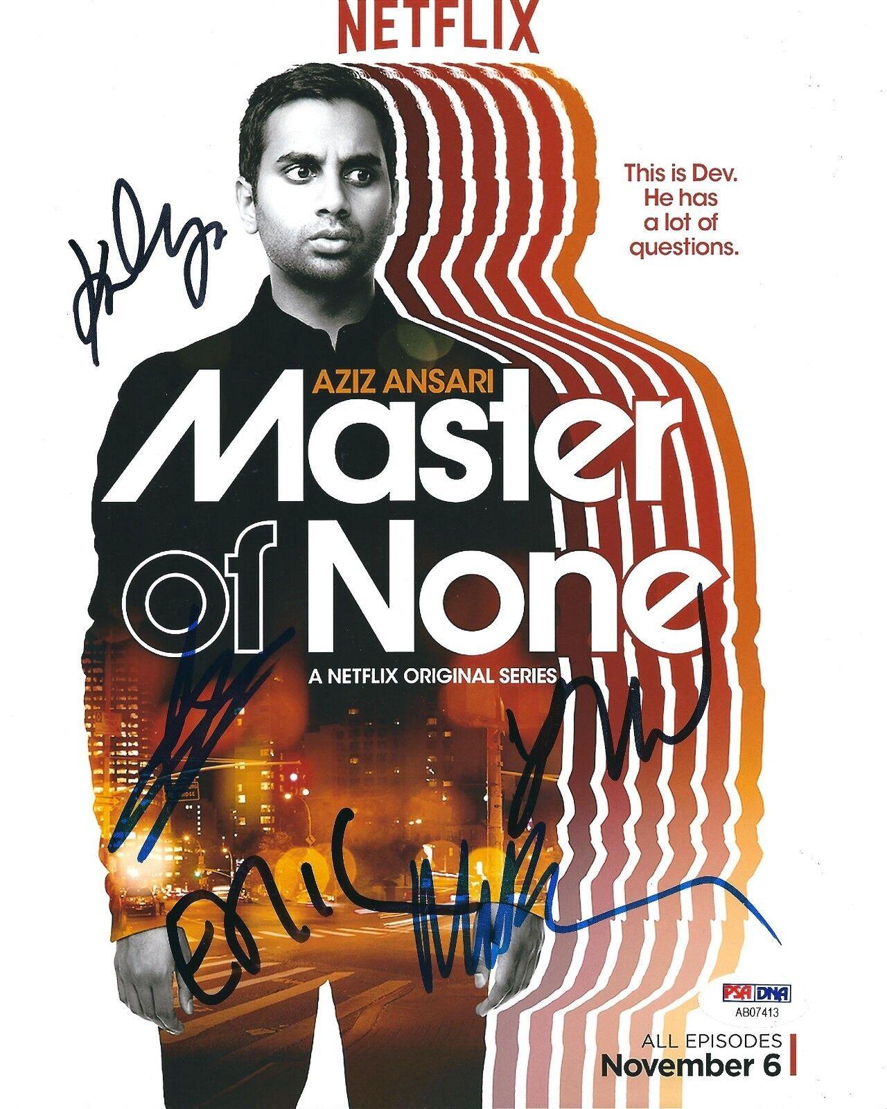 Aziz Ansari Eric Wareheim Lena Waithe Kelvin Yu 'Master Of None' 8x10 Photo PSA