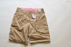 1528da09c3 GAP Shield Kids Girls Pleated Navy Khaki Chino Uniform Shorts NwT 6 ...