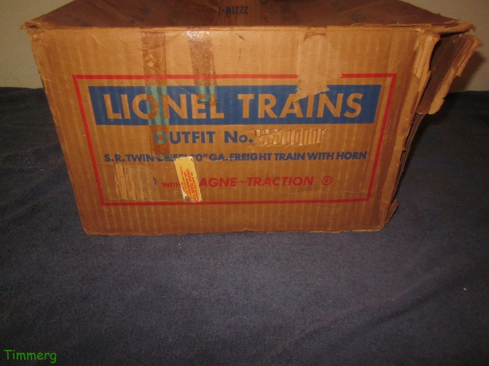 Rare Lionel Trains Postwar 2231W Southern ABA F3 Diesel Freight Set Box Only
