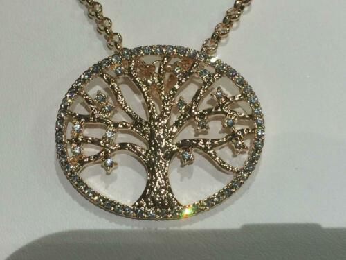 SIGNED HAWAIIAN NINA KUNA TREE OF LIFE CZ NECKLACE-Rose gold plate-NEW Details about  /50/%  Off