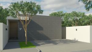 Casa de una sola planta, Modelo Lúmina en Privada Nadira, Conkal, Mérida Norte