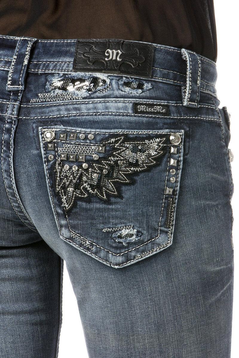 MISS ME Women's Rebel Angels Skinny Jeans  JP7072S5 NWT