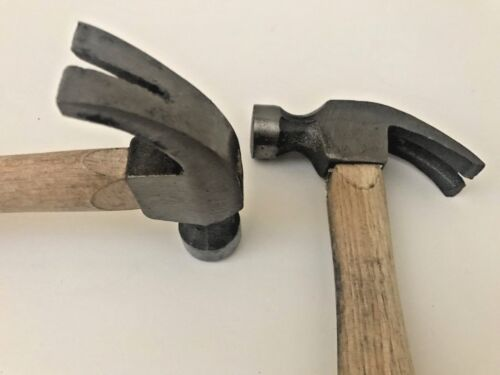 2 X Claw Hammer/_10 Inch/_Wooden Handle With Rubber-7.5 oz-Heavy Duty Tool