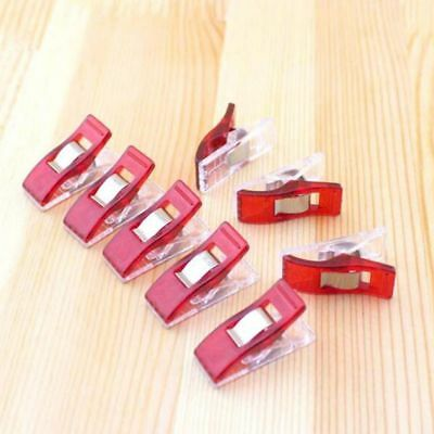 Lot 12pcs Red Wonder Clips for Fabric Quilting Craft Sewing Knitting Crochet