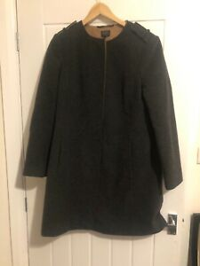 M-amp-S-Women-039-s-Grey-Tailored-Formal-Coat-Wool-Cashmere-Blend-Uk-12-Nova-Fides-Boxy