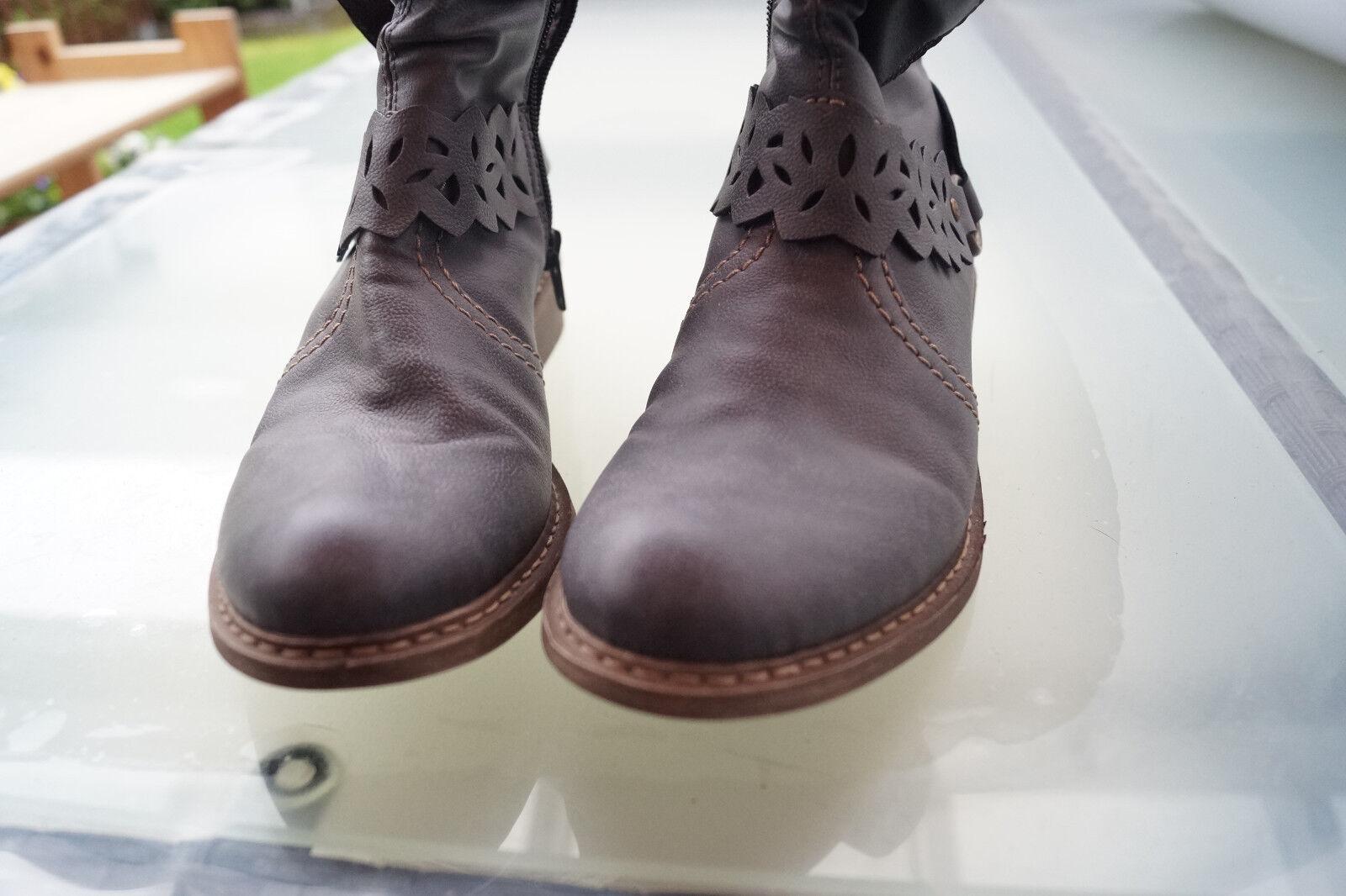 Schicke RIEKER Damen Gr.37 Schuhe Stiefel Stiefel Stiefeletten Gr.37 Damen leicht NEU #m 70b70a