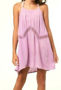 O-039-Neill-ISSEY-Girls-Youth-100-Viscose-Neck-Tie-Cover-Up-Medium-Lavender-NEW