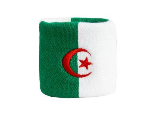 Schweißband Fahne Flagge Algerien 7x8cm Armband für Sport