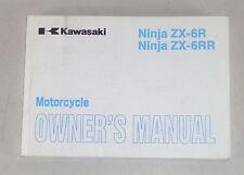 Betriebsanleitung / Manual Kawasaki Ninja ZX-6 R ZX-6 RR Stand 2002