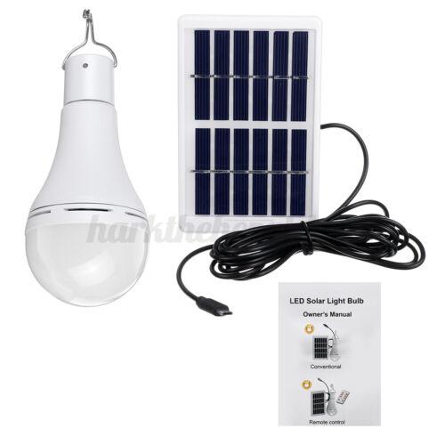 7 9W Solarbetriebene Schuppen-Glühbirne LED Tragbare Aufhängelampe Camping DE
