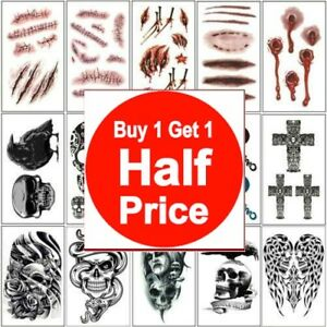 Buy 1 Get 1 50 Off Temporary Tattoo Birthday Party Favor Halloween