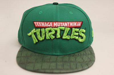 Teenage Mutant Ninja Turtles Green Faux Leather Brim New Era Strapback Hat