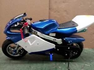 NEW-49CC-MINI-MOTOR-BIKE-KIDS-POCKET-ROCKET-PIT-ATV-PEE-WEE-2-STROKE-DIRT-50cc